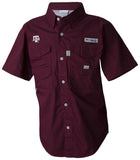 Texas A&M youth columbia bonehead fishing shirt