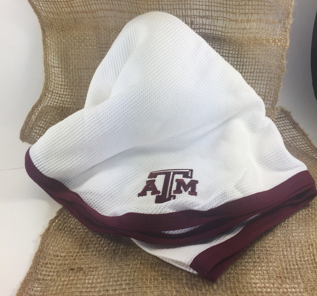 Texas A&M baby blanket