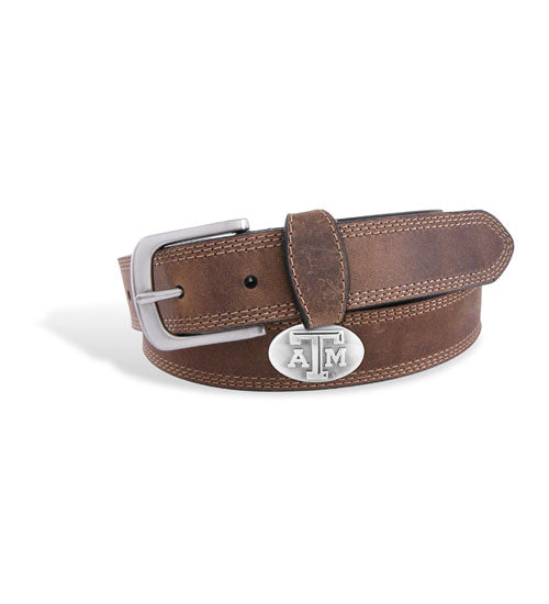 Light Brown Crazyhorse Leather Belt - TXAG Store
