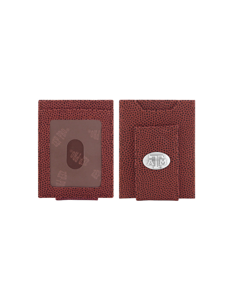 Texas A&M Pigskin Money Clip Wallet - TXAG Store