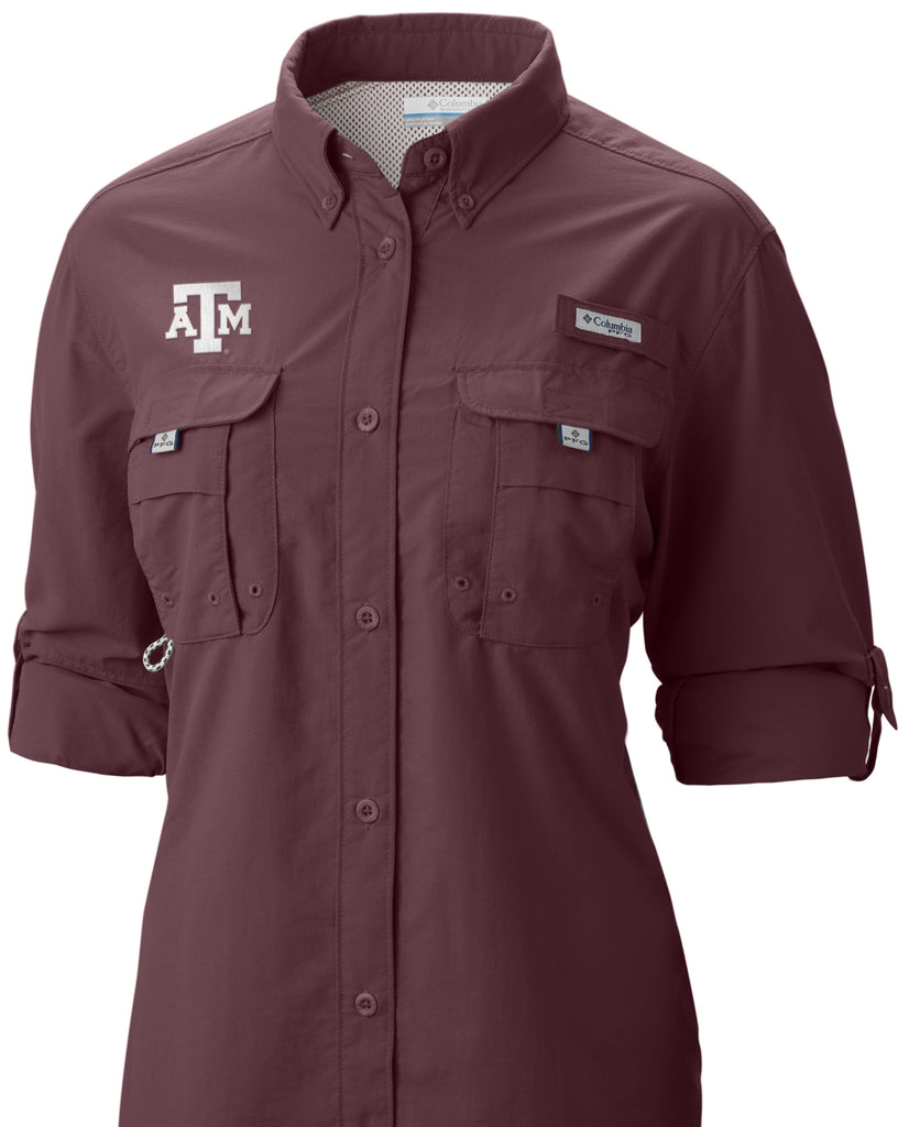 Texas A&M Columbia Bahama Fishing Shirt