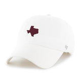 White & Maroon Texas Cap