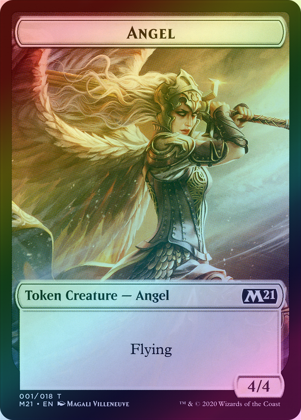 Angel // Demon (M21 Token) (Foil) available at 401 Games Canada