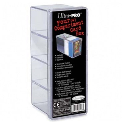 Buy Ultra Pro - Card Storage Box - 4 Compartment Clear and more Great Sleeves & Supplies Products at 401 Games