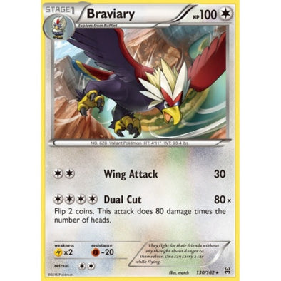 Buy Braviary - 130/162 - Reverse Foil and more Great Pokemon Products at 401 Games