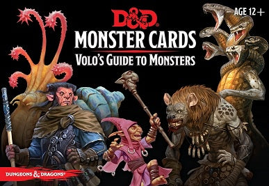 Dungeons and Dragons 5th Edition - Monster Cards - Volo's Guide to Monsters - 401 Games