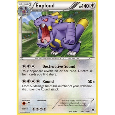 Exploud - 107/135 - Reverse Foil (PLS107R) available at 401 Games Canada