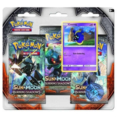 Buy Pokemon - Burning Shadows 3 Pack Blister - Cosmog and more Great Pokemon Products at 401 Games