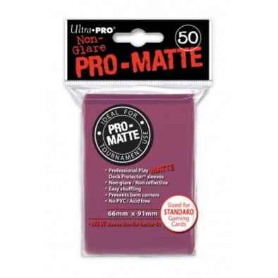 Buy Ultra Pro - Standard Card Sleeves 50ct - Pro-Matte - Blackberry and more Great Sleeves & Supplies Products at 401 Games