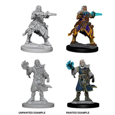 Pathfinder Deep Cuts Unpainted Minis: Male Human Wizard
