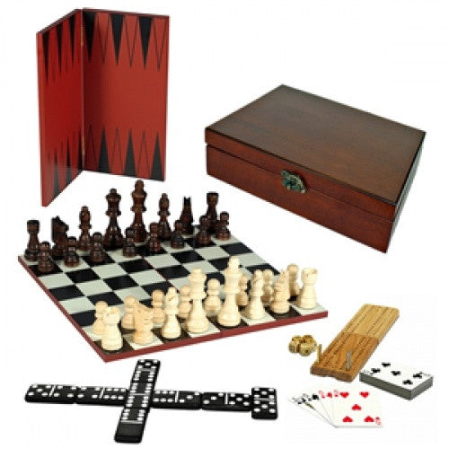 Multiple Game Set - 7 in 1 Deluxe Combination Game Set - Wood Expressions available at 401 Games Canada