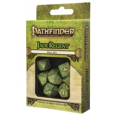 Buy Dice Set - Q-Workshop - 7 Piece Set - Pathfinder - Jade Regent and more Great Dice Products at 401 Games