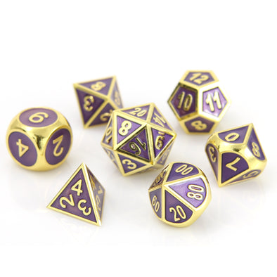 Buy Die Hard - 7 Piece Set - Metal - Gold Amethyst and more Great Dice Products at 401 Games