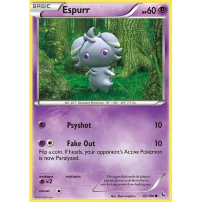 Buy Espurr - 42/106 - Reverse Foil and more Great Pokemon Products at 401 Games