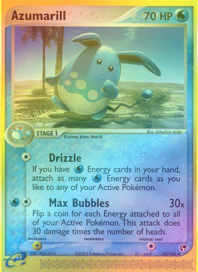 Azumarill - 30/100 - Reverse Foil (SST030R) available at 401 Games Canada