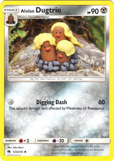 Buy Alolan Dugtrio - 123/214 and more Great Pokemon Products at 401 Games