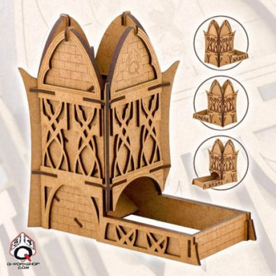 Dice Tower - Q-Workshop - Elven (Wood) - 401 Games