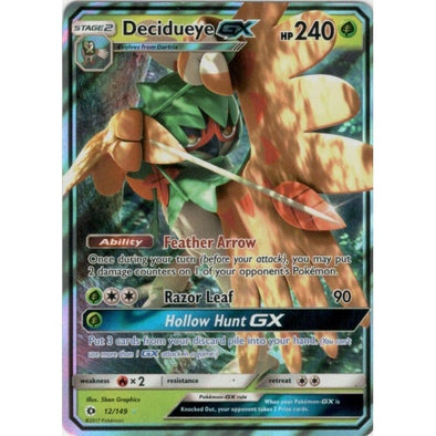Buy Decidueye-GX - 12/149 and more Great Pokemon Products at 401 Games