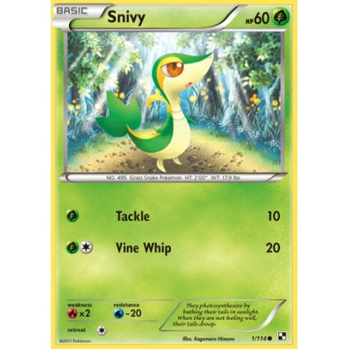 Buy Snivy - 1/114 and more Great Pokemon Products at 401 Games