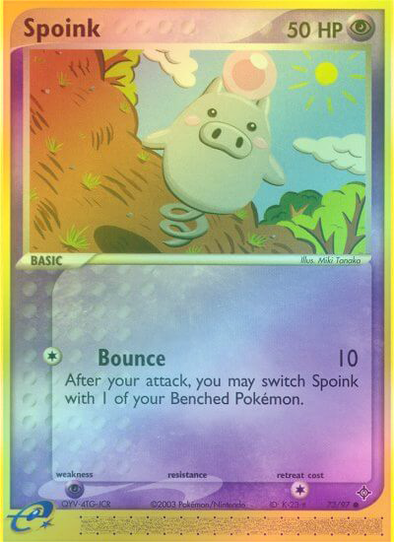 Spoink - 73/97 - Reverse Foil (DRG073R) available at 401 Games Canada