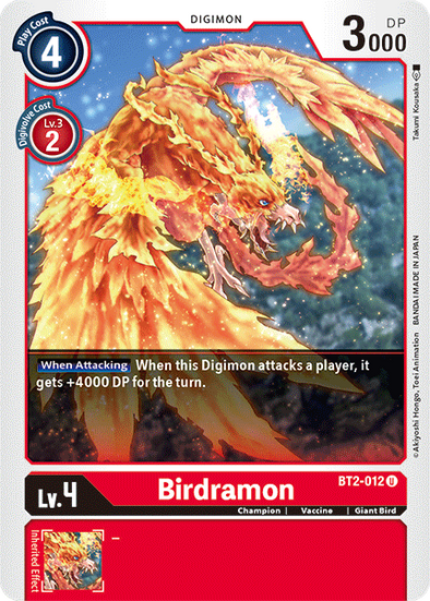Birdramon (BT2-012) available at 401 Games Canada