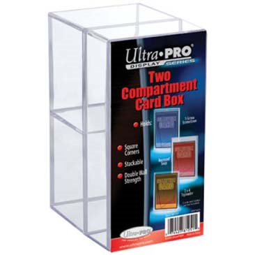 Ultra Pro - Card Storage Box - Two Compartment Card Box - 401 Games