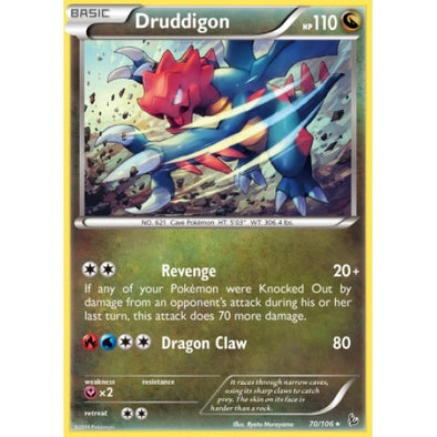 Buy Druddigon - 70/106 - Reverse Foil and more Great Pokemon Products at 401 Games