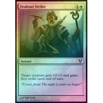 Zealous Strike (Foil) (AVR) available at 401 Games Canada