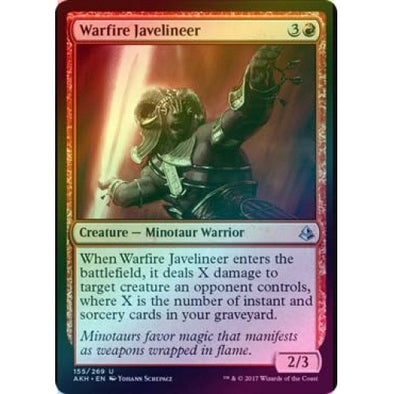 Warfire Javelineer (Foil) (AKH) available at 401 Games Canada