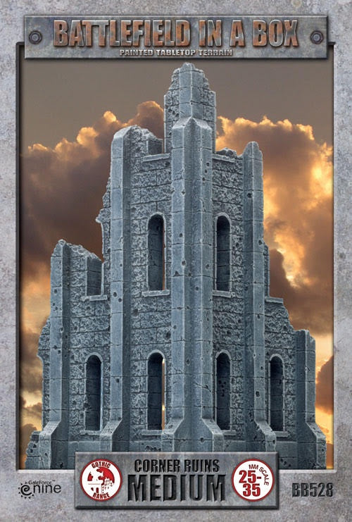 Battlefield in a Box - Gothic Battlefields - Medium Corner Ruin - 401 Games