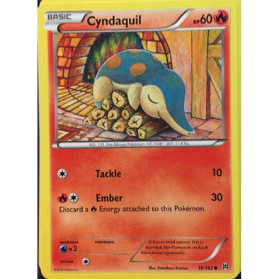 Buy Cyndaquil - 18/162 - Reverse Foil and more Great Pokemon Products at 401 Games