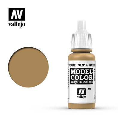 Buy Vallejo - Model Color - 119 - Green Ochre and more Great Tabletop Wargames Products at 401 Games