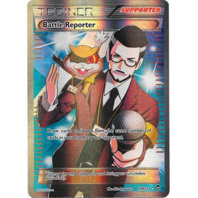 Buy Battle Reporter - 109/111 - Full Art and more Great Pokemon Products at 401 Games