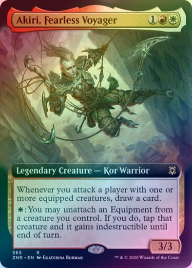 Akiri, Fearless Voyager - Extended Art (FOIL) (ZNR) available at 401 Games Canada
