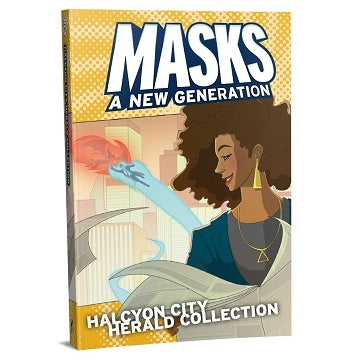 Buy Apocalypse - Masks: A New Generation - Halcyon City Herald Collection (Hardcover) (Pre-Order) and more Great RPG Products at 401 Games