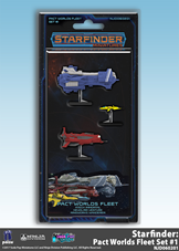 Buy Starfinder Miniatures - Pact Worlds Fleet - Set 1 and more Great RPG Products at 401 Games