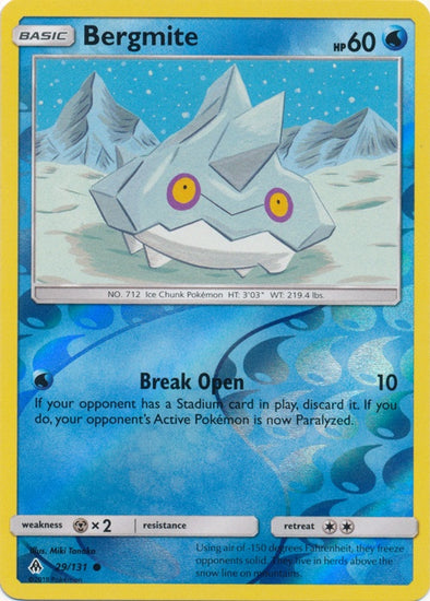 Buy Bergmite - 29/131 - Reverse Foil and more Great Pokemon Products at 401 Games