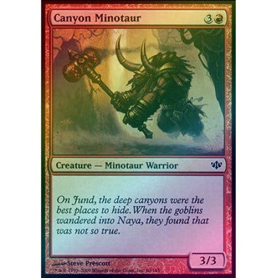 Canyon Minotaur (Foil) (CON) - 401 Games