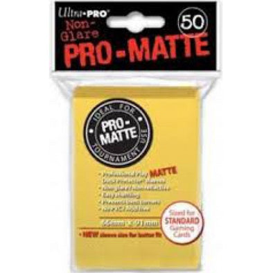 Buy Ultra Pro - Standard Card Sleeves 50ct - Pro-Matte - Yellow and more Great Sleeves & Supplies Products at 401 Games