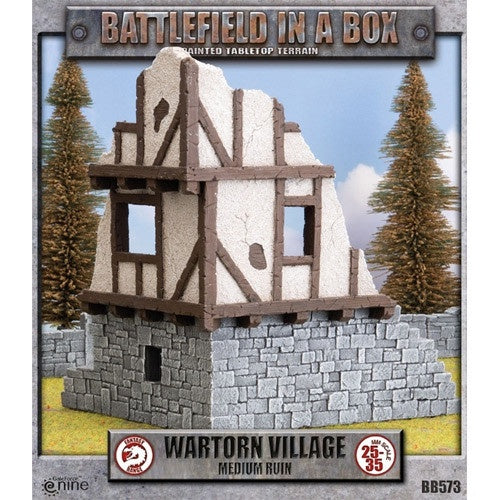 Battlefield in a Box - Wartorn Village - Medium Ruin - 401 Games
