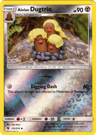 Buy Alolan Dugtrio - 123/214 - Reverse Foil and more Great Pokemon Products at 401 Games
