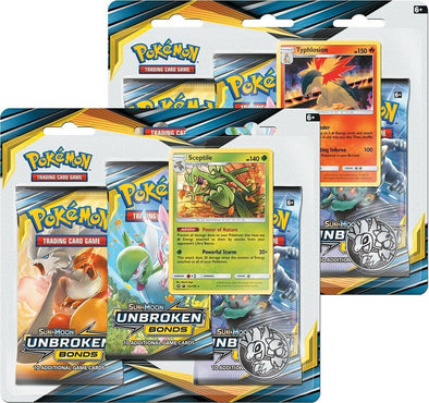 Pokemon - Unbroken Bonds 3 Pack Blister - 2 Blister Bundle available at 401 Games Canada