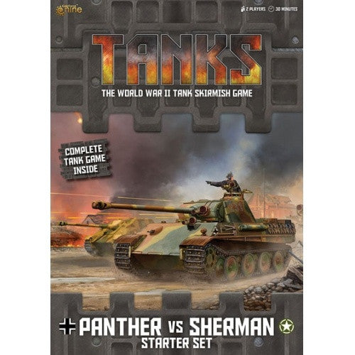 Buy Tanks - Starter Set - Panther vs. Sherman and more Great Tabletop Wargames Products at 401 Games
