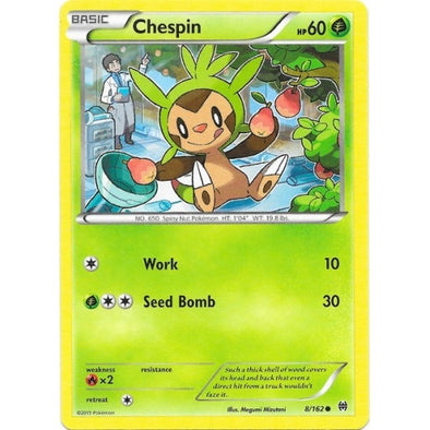 Buy Chespin - 8/162 and more Great Pokemon Products at 401 Games