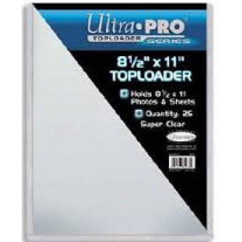 Buy Ultra Pro - Toploader 25ct - 8.5 x 11 and more Great Sleeves & Supplies Products at 401 Games
