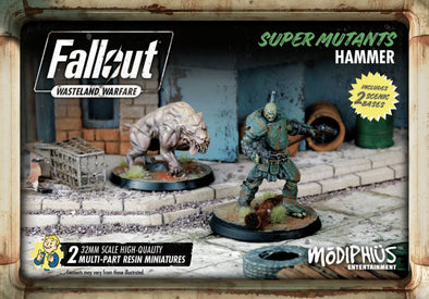 Buy Fallout - Wasteland Warfare - Super Mutants - Hammer and more Great Tabletop Wargames Products at 401 Games