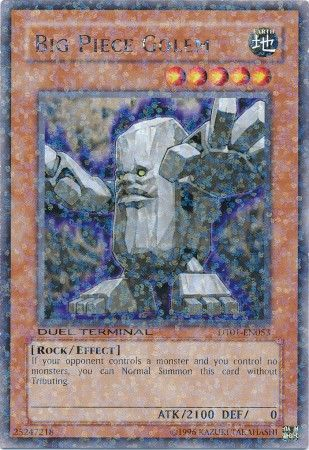 Big Piece Golem - (Duel Terminal Rare Parallel Rare) (DT01) available at 401 Games Canada