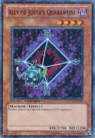 Ally of Justice Quarantine - (Duel Terminal Normal Parallel Rare) (DT03) available at 401 Games Canada