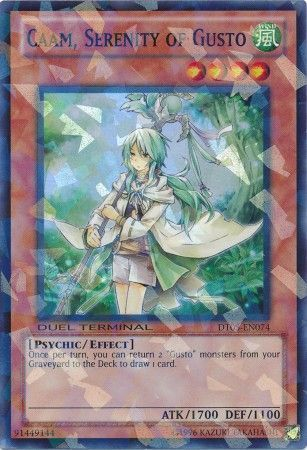 Caam, Serenity of Gusto - (Duel Terminal Super Parallel Rare) (DT05) available at 401 Games Canada