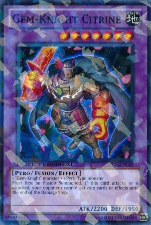 Gem-Knight Citrine - (Duel Terminal Super Parallel Rare) (DT06) available at 401 Games Canada